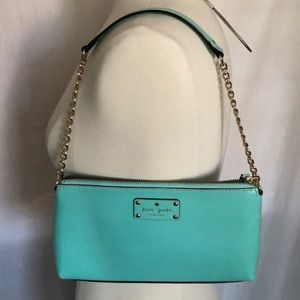 Kate Spade turquoise & gold purse